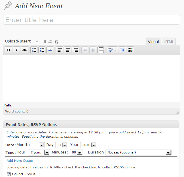 RSVPMaker Event Editor
