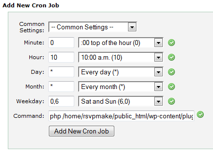 ChimpBlast Cron Job