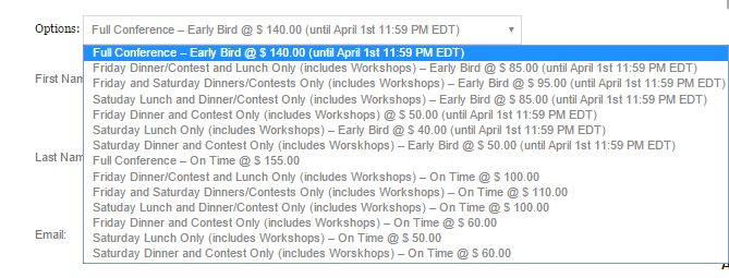 Timed pricing options
