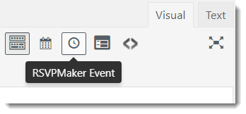 Embed Single Event Button